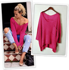 Winter Women's Girl Ladies V neck Loose Long Sleeve Sweater Tops Blouse Clothes
