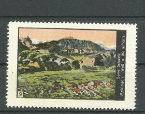Switzerland poster stamp/label (#9 Meiringen/Well and Wetterhorn)