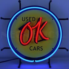 """OK USED Cars Junior Used Cars Dealear Banner Neon Light Sign 16"""" by 16"""""""