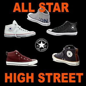 UNISEX CONVERSE CANVAS LEATHER MID CHUCK TAYLOR ALL STAR HI STREET SNEAKERS KEDS
