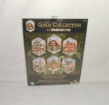 New Dimensions Gold Collection Christmas Village Ornaments Cross Stitch Kit