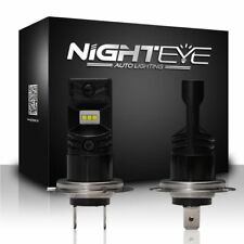 Nighteye H7 160W LED Fog Light Bulb Car Driving Lamp DRL 6500K White High Power