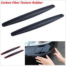 2x Car SUV Bumper Edge Lip Anti-rub Protector Carbon Fiber Texture Rubber Strips