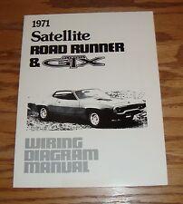 1971 Plymouth Satellite Road Runner & GTX Wiring Diagram Manual 71