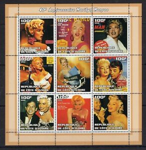 Marilyn Monroe - Hollywood Star - perf. stamps MNH** - AM3