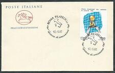 1982 ITALIA FDC CAVALLINO ITALIA CAMPIONE MONDO CALCIO NO TIMBRO DI ARRIVO EDG24