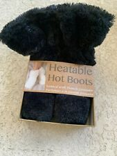 Heatable Hot Boots Slippers French Lavender Size 6-10 black Soothe Relax Comfort
