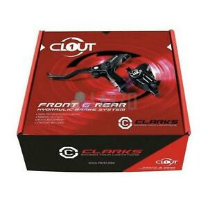HYDRAULICS Clarks > Clout1 < Hydraulic Disc Brake Set Front & Rear 160mm rotors