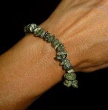 Zebra Serpentine Bracelet Gemstone Beaded Bracelet Reiki Crystal Healing