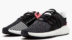 Adidas EQT Support 93/17 Ultra Boost Black Turbo Pink Shoes For Men Size 10.5