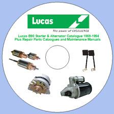 Lucas B90 Starter & Alternator Catalogue 1969-1994 Plus Repair Parts Cataogues