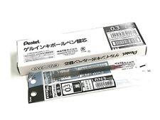10 x Pentel Energel XLRN3 0.3mm Micro Fine Roller Ball Pen Only Refills, BLACK