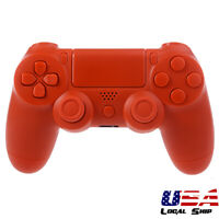 Solid Orange Full Set Shell Case Buttons Repair for Dualshock 4 PS4 Controller