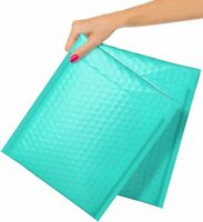5x9 8.5x11 Teal Poly Bubble Mailers Padded Envelopes 20-25 Pack