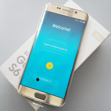 "(New; LCD Imperection) 128GB Samsung Galaxy S6 Edge Gold SIM Free 5.1"" SM-G925F"