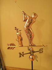 Good Directions Polished Copper Golfer Weathervane - 561P w/Roof Mount