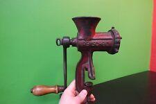 Antique German kitchen meat grinder iron cast enameled #5 Alexanderwerk