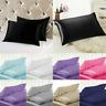 Mulberry Satin Silk Pillowcase Pillow Case Cover King Queen Standard Cushion X1