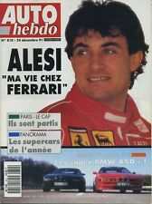 AUTO HEBDO n°810 du 24 Décembre 1991 BMW 850: HARTGE H2 & ALPINA B12