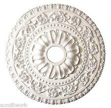 Ceiling Medallion 24 Inch White Polyurethane large round f/ Light fixture canopy