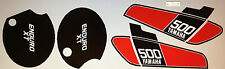 Yamaha XT500 XT500C TT500C 1976 Pintura DECAL set