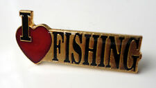 ZP196 Fisherman Coarse Sea Angler Fly I Love Fishing Badge Angling Freshwater
