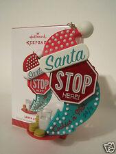 Hallmark Ornament 2014 Santa Stop Here Magic Light & Sound #QGO1436 NEW