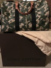 Authentic LOUIS VUITTON Speedy Bag Monogram Camouflage 35