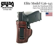 SHADO Leather Holster Elite Model G26-143 LH Brown IWB fits Glock 26 27 33 Brand