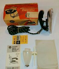 VTG GE PORTABLE SPRAY STEAM AND DRY TRAVEL IRON F47 W BAG, & INSTRUCTION