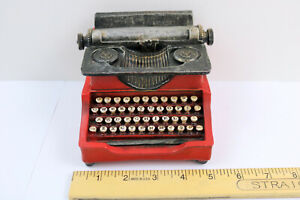ANTIQUE RED TYPEWRITER COIN SLOT BANK ~ VINTAGE LOOK!  COOL, MODERN & CLEAN!