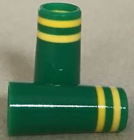 Custom Green Ferrules w/Yellow trim rings