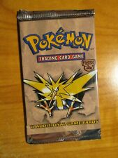SEALED Pokemon (Unlimited) FOSSIL SET Card (Weighed-Light) BOOSTER PACK Zapdos#2