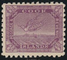 1898 Cook Islands 6d Purple, SG 18, MH