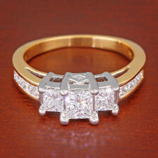 dd7e1b27a New ListingKay Three 3-Stone Diamond Ring 1-1/2 carat tw Princess-cut 14k  Two-tone Gold ct