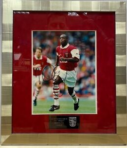 IAN WRIGHT of Arsenal Signed Framed Photo Picture Autographed Was £125 Now £99.