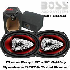 Boss Audio CH6940 4-Way Car Shelf Speaker 500W With 6x9 BOX Enclosure