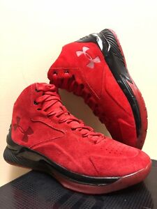 Under Armour Curry 1 Lux Mid Suede Red/Black