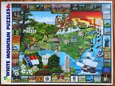 """North Carolina Historic 1000 Puzzle All Here 24 x 30"""" White Mountain Map Tryon"""