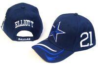 Dallas City Blue Hat Cap 21 Ezekiel Elliott Embroidered Cowboys Star Name Number