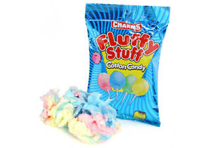 Charms-Fluffy Stuff Cotton Candy (71g Bag ) American Candy pack of  3, 5, 7 & 10