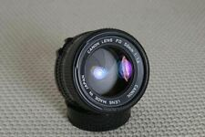 Canon 50mm f/1.4 FD-mount Manual Focus lens, breech or bayonet mount