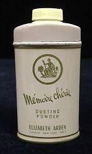 Vintage Elizabeth Arden Memoire Cherie Dusting Powder approx ½ full