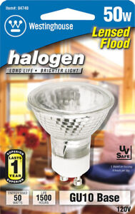 Westinghouse  50 watts MR16  Halogen Bulb  330 lumens White  Floodlight  1 pk