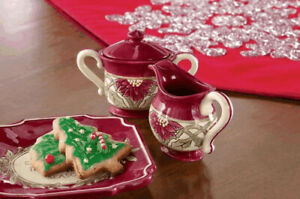 Grasslands Road Kitchen Christmas Holiday Mini Sugar & Creamer Set 464121