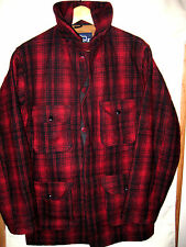 WOOLRICH MACKINAW BUFFALO PLAID HUNTING JACKET COAT-WINDTAB COLLAR-LINED-44 L