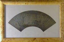 CHINESE PAINTED ANCIENT QING DYNASTY FAN LEAF INK AND COLOR