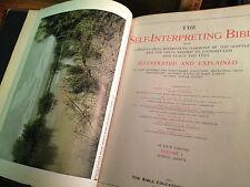 THE SELF INTERPRETING BIBLE-LEE/BROWN VINTAGE 4 VOL 1911-SUPERB PHOTOS/PLATES VG
