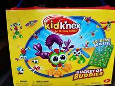 Big Mixed Lot Kid K'Nex Bucket of Buddies Box + Idea Poster + 100 + Pieces!