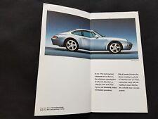 english 1996 Porsche 911 Carrera RS 993 964 Wheel Räder Felgen Prospekt Brochure